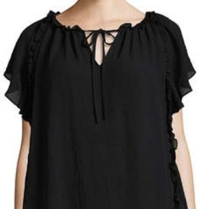 Worthington Ruffled Peasant Blouse